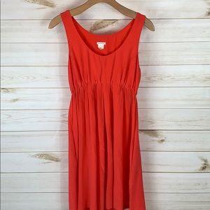 Club Monaco 100% Silk Tangerine Dress M